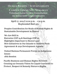 Human Rights _ Sustainability Campus Community Dialogue 1