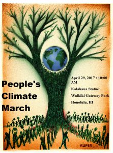climate march tree